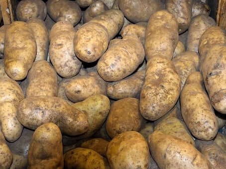 Potatoes, For Sale, Market, Food, Fresh, Organic