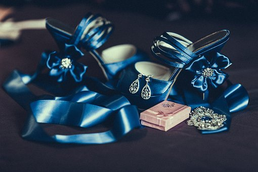 Wedding, Jewellery, Preparation, Shoes, Orienge, Blue