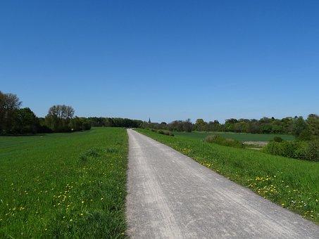 Poppy Home On The Rhine, Away, Horizon, Spring, Wide