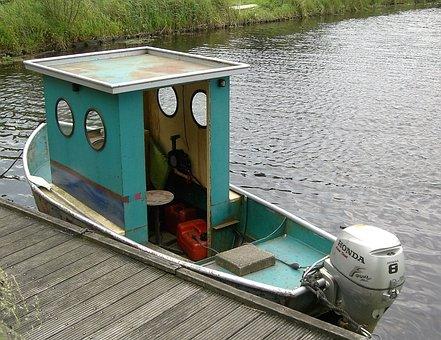 Transport, Boat, Cabin, Scaffolding, Mini