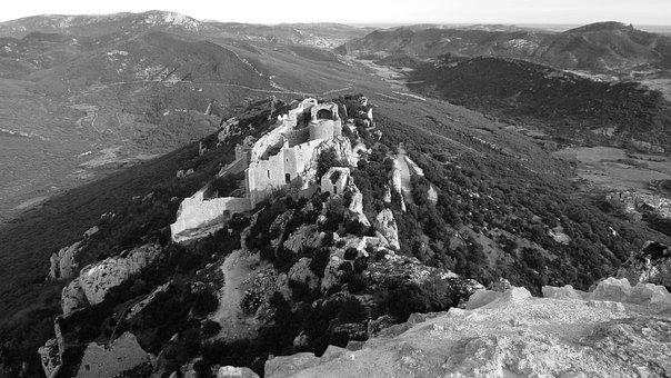Castle, Cathar Castle, Cathar Country, Ruin