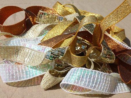 Gold Ribbon, Trims, Sewing, Haberdashery, Ribbon, Sew