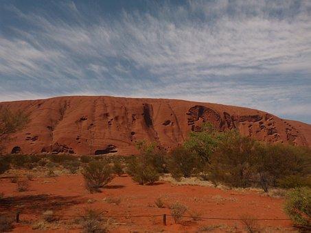 Uluru, Ayersrock, Australia, Outback, Landscape