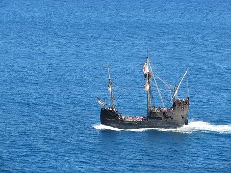 Pirate Ship, Replica, Santa Maria, Columbus