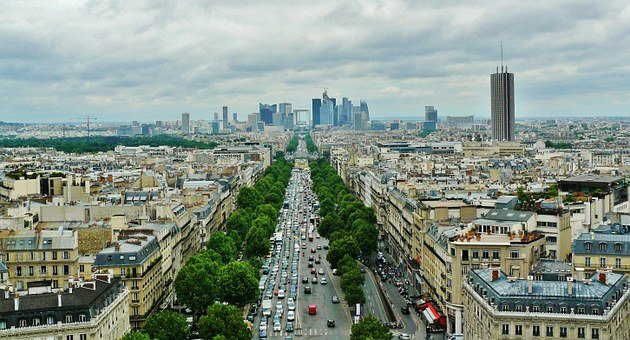 Paris, City View, La Defense, Boulevard, Avenue, Road