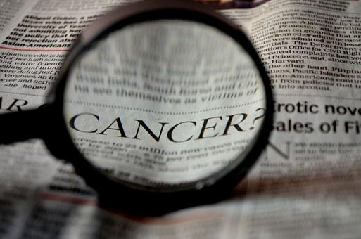 Cancer, Newspaper, Word, Magnifier, Magnifying Glass