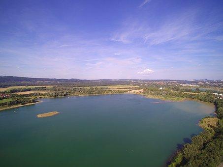 Gravel Pit, Pratzschwitz, Pirna, Aerial View