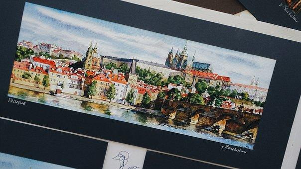 Prague, Bridge, Czech Republic, City, River
