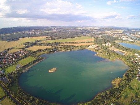 Gravel Pit, Aerial View, Pratzschwitz