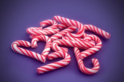 Candy Cane, Candy, Cane, Winter, Christmas, Heart, Pile