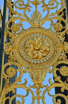 Goal, Gold, Ornament, Fence, Grid, Louvre, Paris