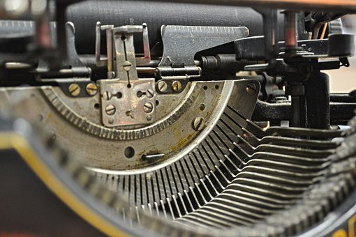 Typewriter, Keys, Steampunk, Metal, Old, Retro, Antique