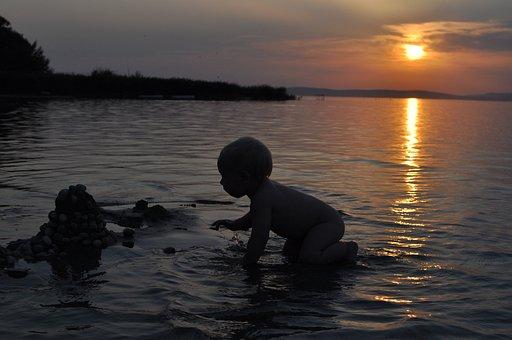 Child, Spatter, Lake Balaton, Beach, Kid, Holiday