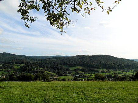 Odenwald, Landscape, Hill, Background, Sky, Gentle