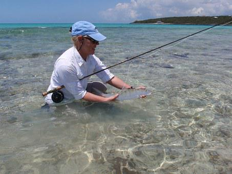 Bone Fish, Fly Fishing, Bahama, Bone-fish, Woman