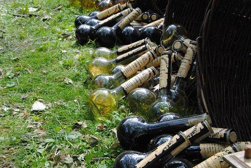 Bottles, Alcohol, Middle Ages, Beverages, Glass Bottles