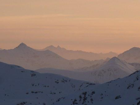 Sunrise, Swiss Alps, Mountains, Sky, Morning, Mood