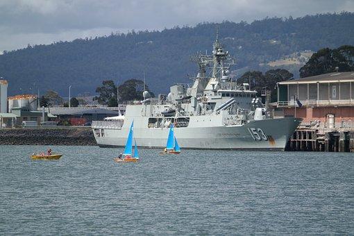 Military Ship, Hmas Stuart, Australian Navy, Navy, War