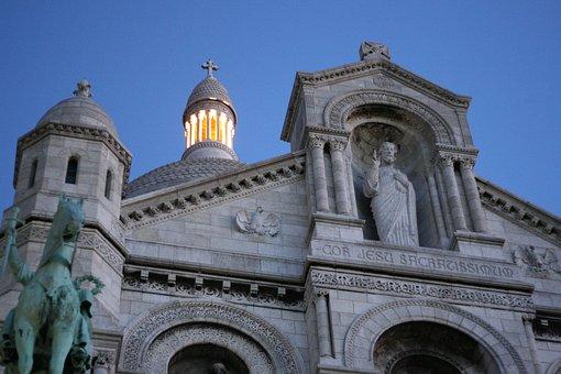 Paris, Sacré Coeur Basilica, Montmartre Hill