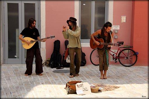 Music, Road, Artists, Guitar, Street Art
