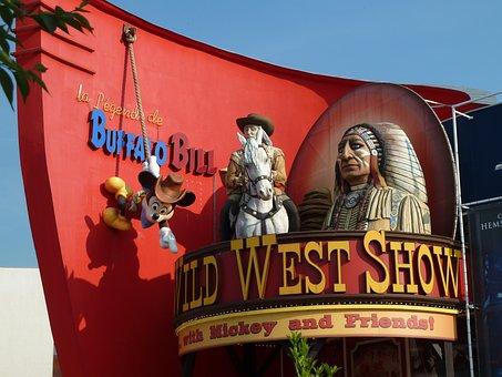 Buffalo Bill, Disneyland, Wild West, Show, Indians