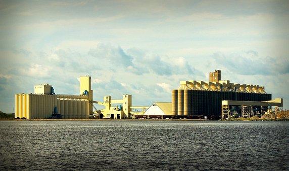 Grain Elevators, Lake Superior, Wisconsin, Industry