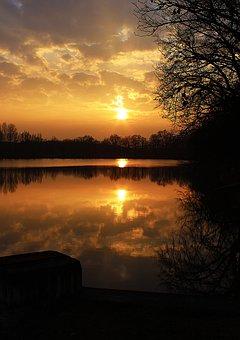 Czech Republic, Czech Budejovice, Pond, Water, Sun
