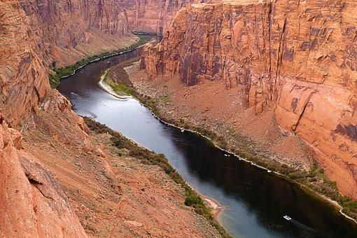Colorado River, Water, Glen Canyon, River, Arizona, Usa