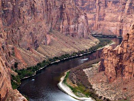 Colorado River, River, Water, Arizona, Usa, Glen Canyon