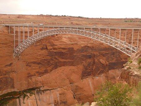 Glen Canyon Bridge, Bridge, Steel Arch Bridge, Arizona