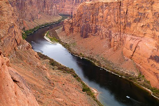 Colorado River, Water, Glen Canyon, River, Arizona, Usa