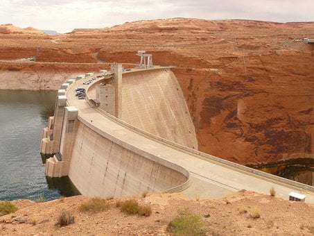 Glen Canyon Dam, Arch Gravity Dam, Colorado River
