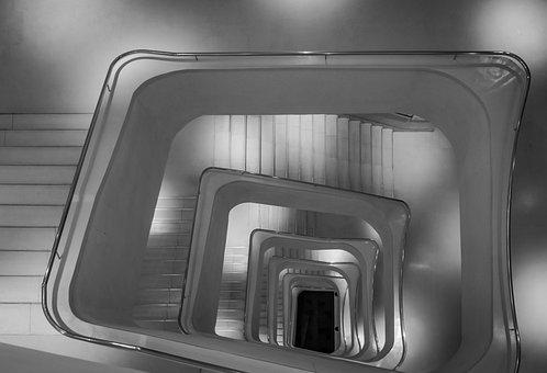 Ladder, Art, Museum, Madrid, Creation, Arches