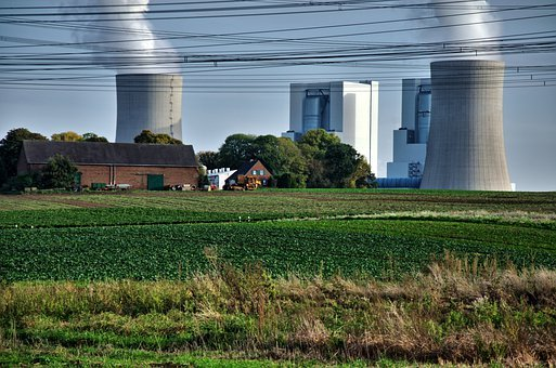 Power Plant, Brown Coal, Industry, Smoke, Cooling Tower