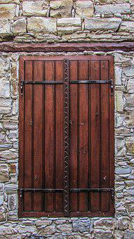 Window, Wooden, House, Stone, Architecture, Wall