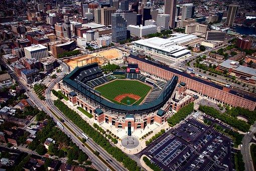 Camden Yards, Baltimore, Maryland, Hdr, Baseball