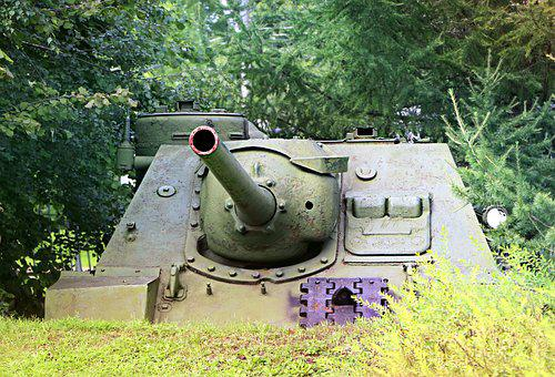 Tank, War, Disguise, Camo, Cannon, Muzzle, Green