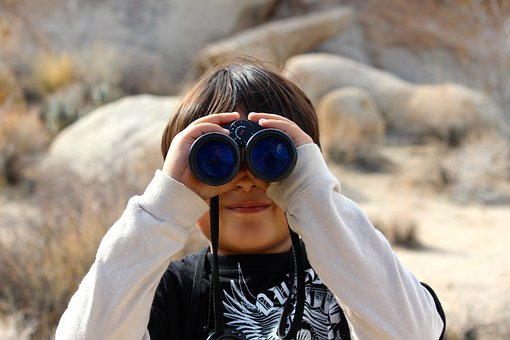 Binoculars, Child, Magnification, Lookout, Look, Binocs