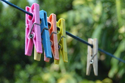 Clothesline, Clothes Pins, Line, Clothespin, Plastic