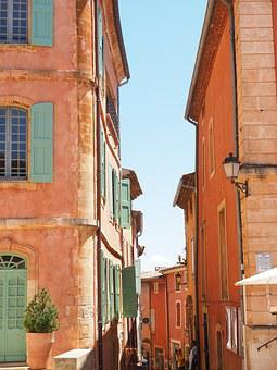 Roussillon, Community, Village, Village Core, Road