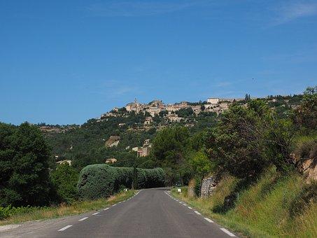 Road, Reach, Gordes, Village, Community, City