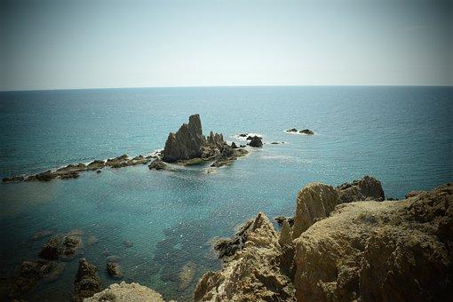Reef, Spain, Almeria, Mediterranean, Sea, Is, Blue