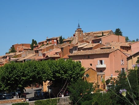 Roussillon, Community, Village, Roofs, Homes