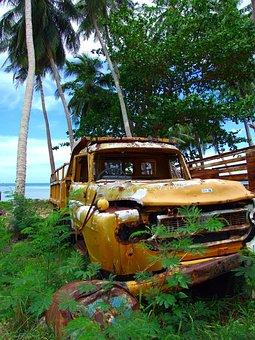 Auto, Wreck, Scrap, Rusted, Turned Off, Scrap Car