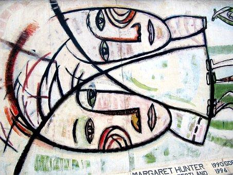Berlin Wall, Wall, Graffiti, East Side Gallery, Art
