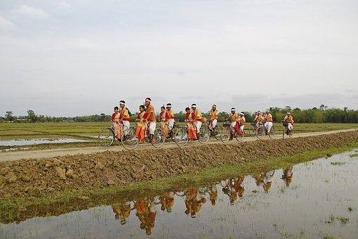 Bihu, India, Assam, Travel, Bicycle, Bike, Cycle