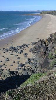 Beach, Lookout, View, Seashore, Sky, Coast, Travel