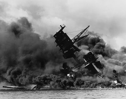 Pearl Harbor, Ship, Warship, Destroyed, Sink, Sunk
