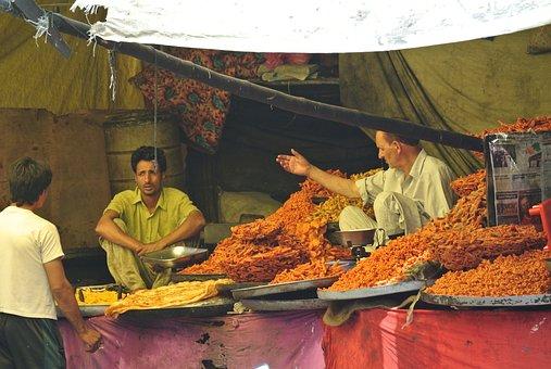 Indian Market, Kashmir, Food, Indian, Traditional