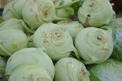 Kohlrabi, Vegetables, Brassica Oleracea Var
